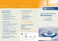 KFW Flyer -  Kieler Forum Weiterbildung