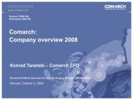 Comarch: Company overview 2008