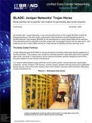 Juniper Networks' Trojan Horse - BLADE Network Technologies