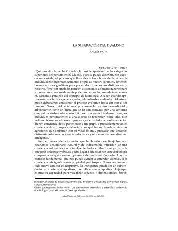 LA SUPERACIÓN DEL DUALISMO - Ludus Vitalis
