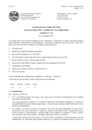 Verbale 121 del 14/05/2013 - Ingegneria per l'Ambiente e il ...