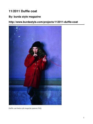 11/2011 Duffle coat - BurdaStyle.com