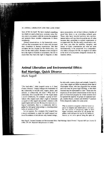 ethics and the new animal liberation Alasdair cochrane introduces an entirely new theory of animalrights grounded in their interests as sentient beings he thenapplies this theory to different and.