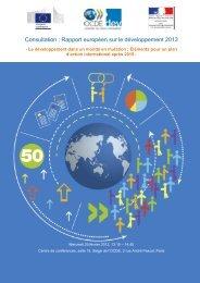 Consultation : Rapport européen sur le développement 2013