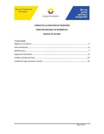 Manual del Sistema - Consejo de la Judicatura