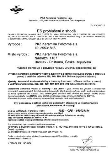 Keramické komínové vložky, tvarovky a doplňky - PKZ Keramika ...