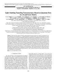 Light Emitting Tunneling Nanostructures Based on Quantum Dots in ...
