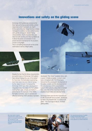 Innovations and safety on the gliding scene - Schempp-Hirth
