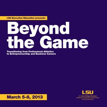 March 5-8, 2013 - EJ Ourso College of Business - Louisiana State ...