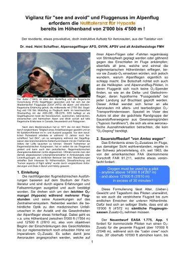 """Vigilanz für """"see and avoid"""" und Fluggenuss im ... - Schempp-Hirth"""