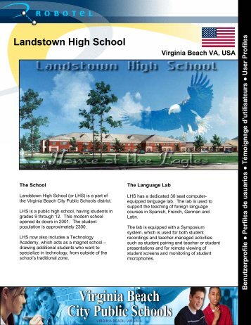 Landstown High School - Robotel