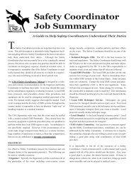 USEA Safety Coordinators' Job Description - United States Eventing ...