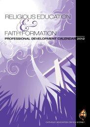 professional Development Faith Formation - Catholic Education ...