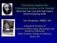 Translating Insights from Community Studies to the Hospital