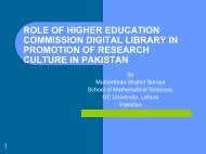 role of higher education commission, digital library in promotion of ...