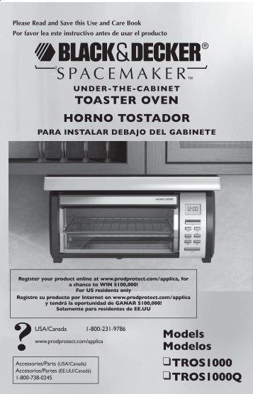 ToAsTER ovEN HoRNo TosTADoR Models Modelos TRos1000 ...