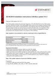 ZE-NC2010 Installation instructions CAN-Bus update V13 - Zenec