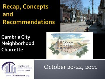 Cambria City Neighborhood Charrette