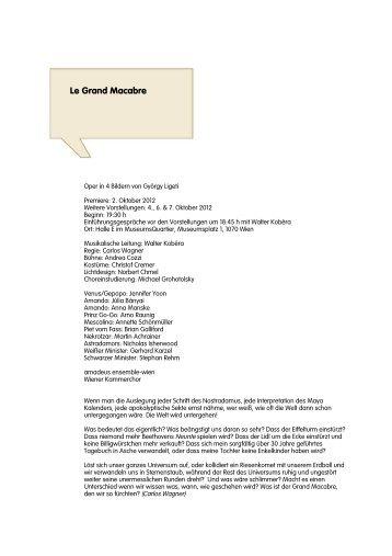 Le Grand Macabre - Neue Oper Wien