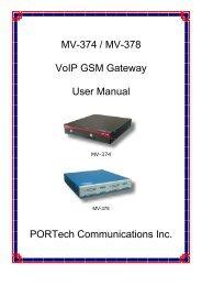 MV-374 / MV-378 VoIP GSM Gateway User Manual ... - LinkShop