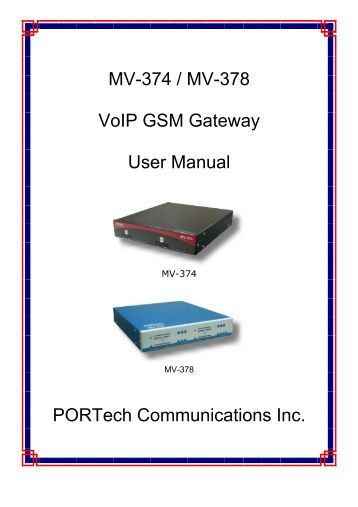 Hypermedia gsm Gateway Manual