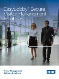 EasyLobby® Secure Visitor Management Solutions - HID Global