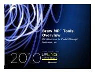 Brew MP™ Tools Brew MP Tools Overview - Uplinq