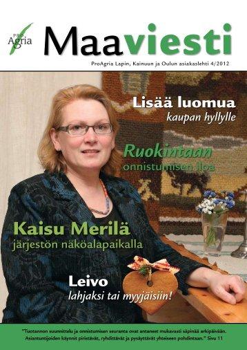 4/2012 - ProAgria Oulu