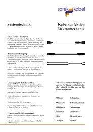 Kabelkonfektion Elektromechanik Systemtechnik