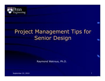 Project Management Tips For Senior Design - the Department of ...
