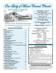 November 7, 2010 (pdf) - Our Lady of Mount Carmel