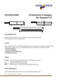 Frontstecker-Leitungen für Simatic® S7