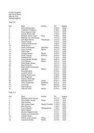 Fredensborgløbet 2012 Age Group Results May 28 ... - Viking Atletik