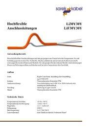 Hochflexible Anschlussleitungen Li30Y30Y LiF30Y30Y