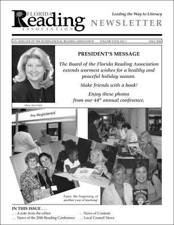 NEWSLETTER - Florida Reading Association