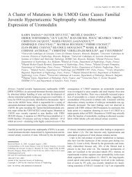 A Cluster of Mutations in the UMOD Gene Causes Familial Juvenile ...