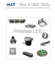Preisliste LED - MLT - Moderne Licht-Technik AG