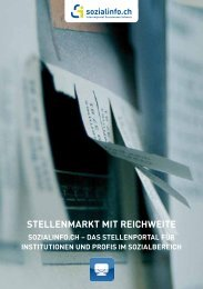flyer stellenmarkt web - Sozialinfo.ch
