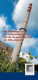 De bijdrage van de cementindustrie tot de beperking ... - Febelcem