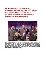 more photos of award presentations at the 45th asian ... - ABBF