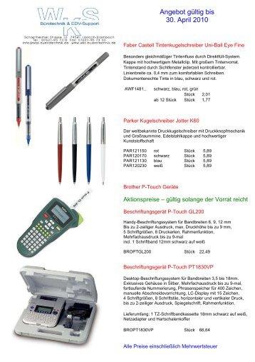 Angebot Ist Gültig Bis 31122012 Kugelschreiber 1000 Stück