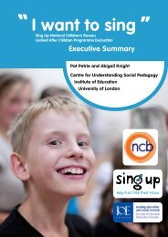 Sing Up NCB Looked After Children Report - Executive Summary