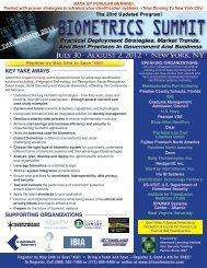 The Summer Biometrics Summit - July 30 - Aug. 2, 2012 - Advanced ...
