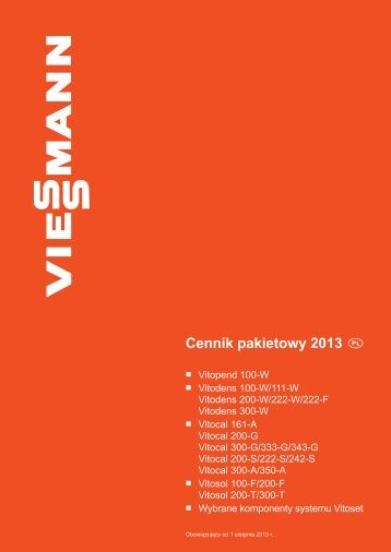 Cennik pakietowy 2013 PL - Viessmann