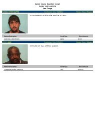 Updated Dec. 3: Mugshots of people arrested in Lenoir County
