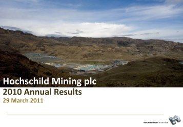 3.5 moz Ag Eq - Hochschild Mining plc