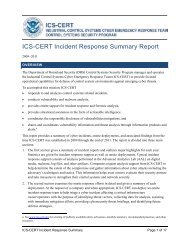 ICS-CERT Incident Response Summary Report - SCADAhacker