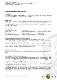 Busreglement Vereinsbus Adliswil - Badminton Club Adliswil