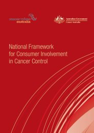 National Framework for Consumer Involvement in ... - health.vic.gov.au
