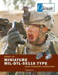 Series 151 Miniature MIL-DTL-55116 Type - Glenair, Inc.